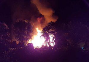 Pożar pustostanu w Górze Kalwarii
