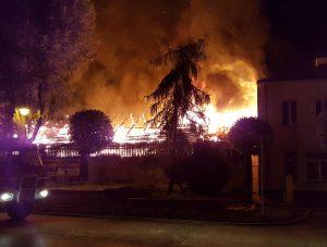 Pożar w centrum Góry Kalwarii
