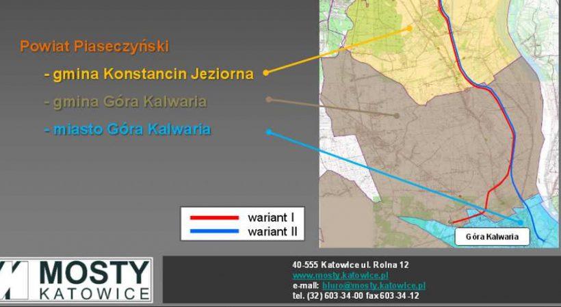 Planowany przebieg drogi wojewódzkiej nr 724