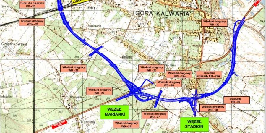 Obwodnica Góry Kalwarii - mapa