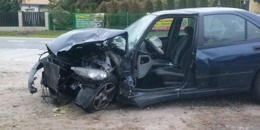Wypadek w Kątach gmina Góra Kalwaria