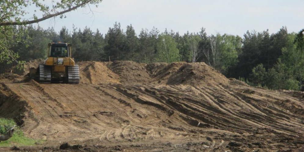 Prace na budowie obwodnicy Góry Kalwarii