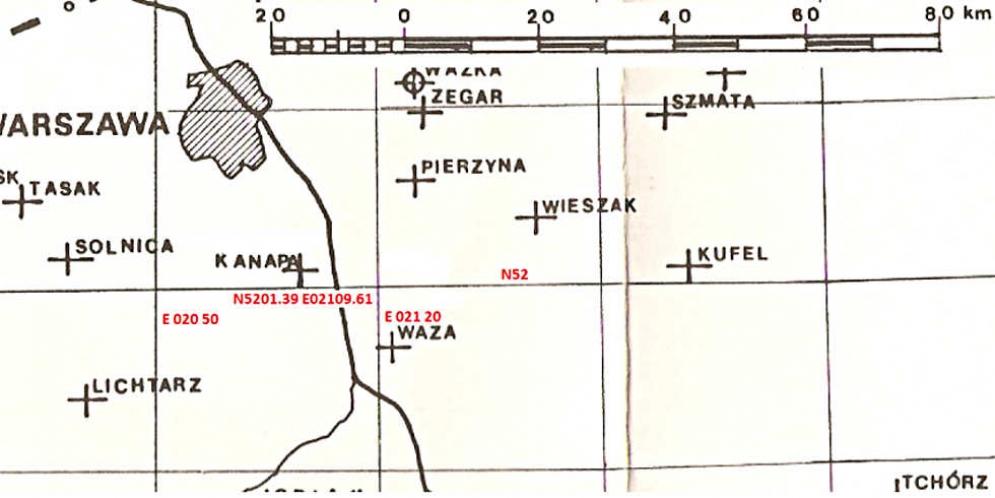 Mapa placówek odbiorczych AK