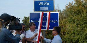 Odsłonięcie tablicy z nazwą Most Nadwiślańskiego Urzecza