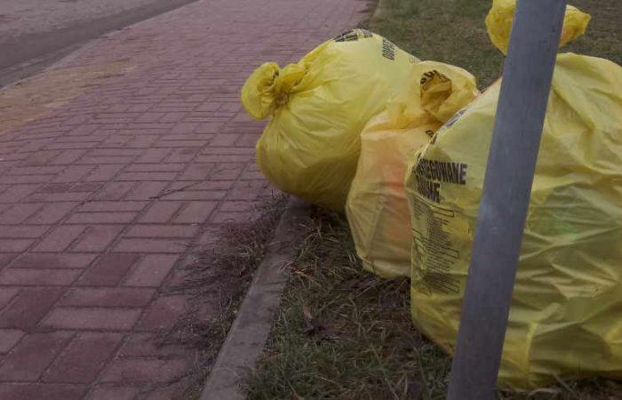 Worki z odpadami