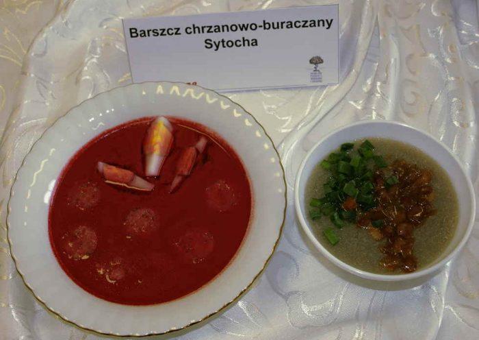 Barszcz buraczano - chrzanowy i sytocha - tradycyjne potrawy z Urzecza