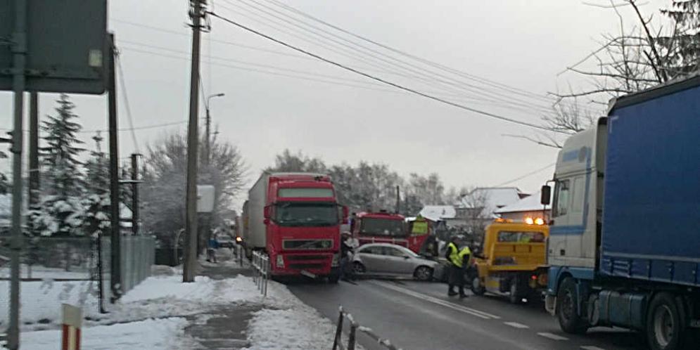 Wypadek na ul. Grójeckiej w Górze Kalwarii