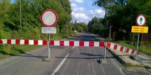 Ulica Czerska w Górze Kalwarii w trakcie remontu