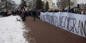 Protest antyimigrancki w Górze Kalwarii