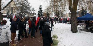 Protest przeciwko relokacji migrantów w Górze Kalwarii