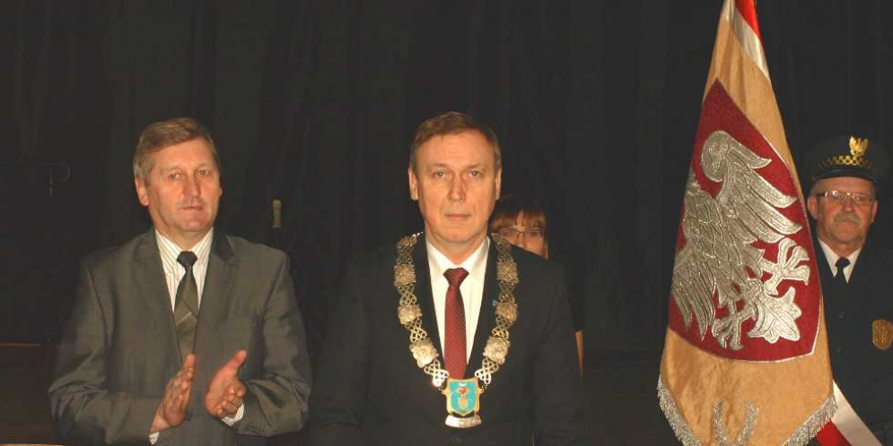 Zaprzysiężenie Dariusza Zielińskiego na burmistrza miasta i gminy Góra Kalwaria
