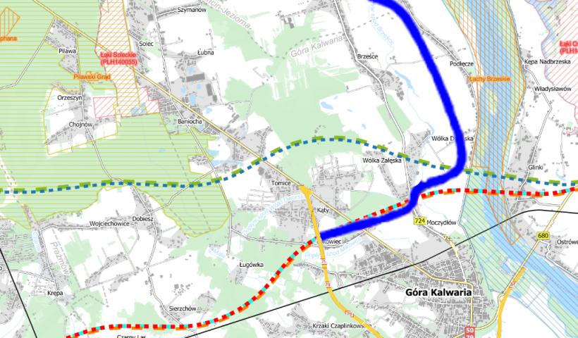 Panowana sieć dróg na terenie gminy Góra Kalwaria